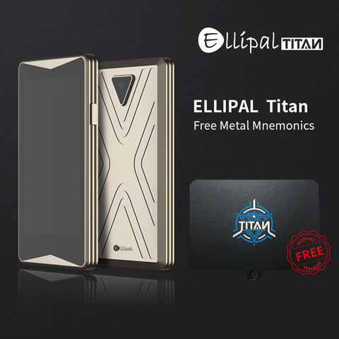 Ellipal Titan - fully metal sealed air gapped cold wallet