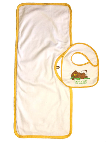 Clippy Cloth and newborn sized Hug-A-Bib bundle