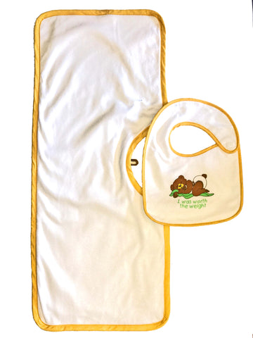 Clippy Cloth and Infant sized Hug-A-Bib Bundle