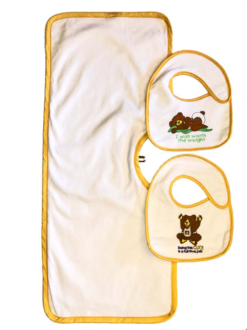 Clippy Cloth and Two Hug-A-Bib Newborn Sized Bundle
