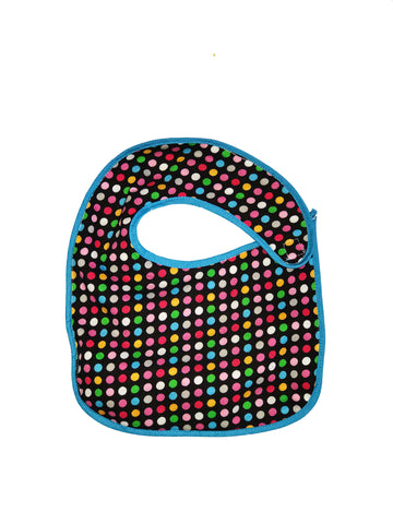 Infant sized Hug-A-Bib colorful dots