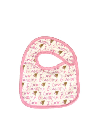 Infant sized Hug-A-Bib I <3 Grandma pink trim