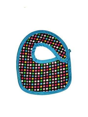Newborn sized Hug-A-Bib with dots