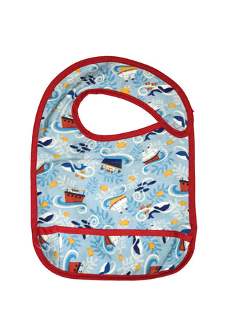Toddler Large sized Hug-A-Bib with boats