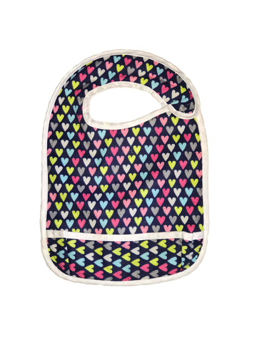 Toddler Large sized Hug-A-Bib with colored hearts