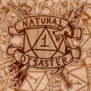 Natural Disaster | Wooden Sticker