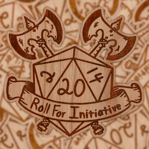 Roll For Initiative | Wooden Sticker