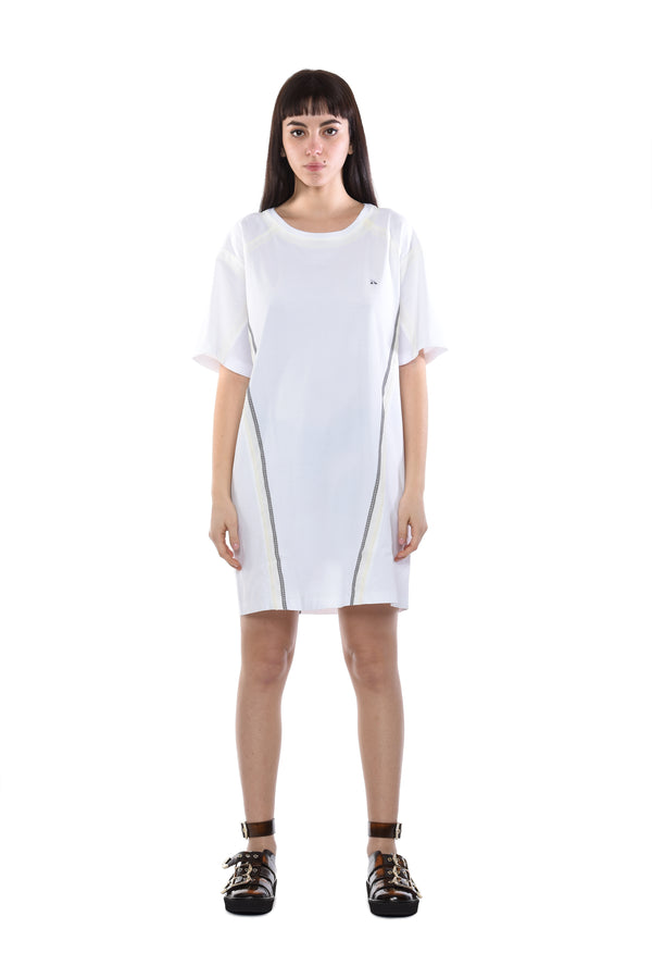 WHITE T-SHIRT DRESS
