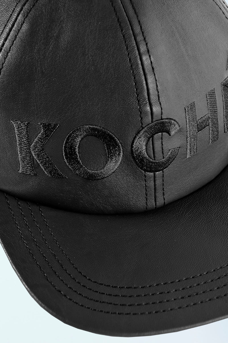 BLACK BASEBALL CAP WITH KOCHE' LOGO