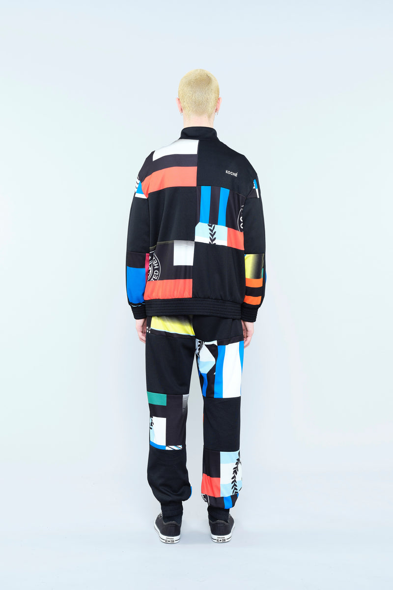 SWEATSHIRT WITH RE/KOCHÉ-INSPIRED PATCHWORK