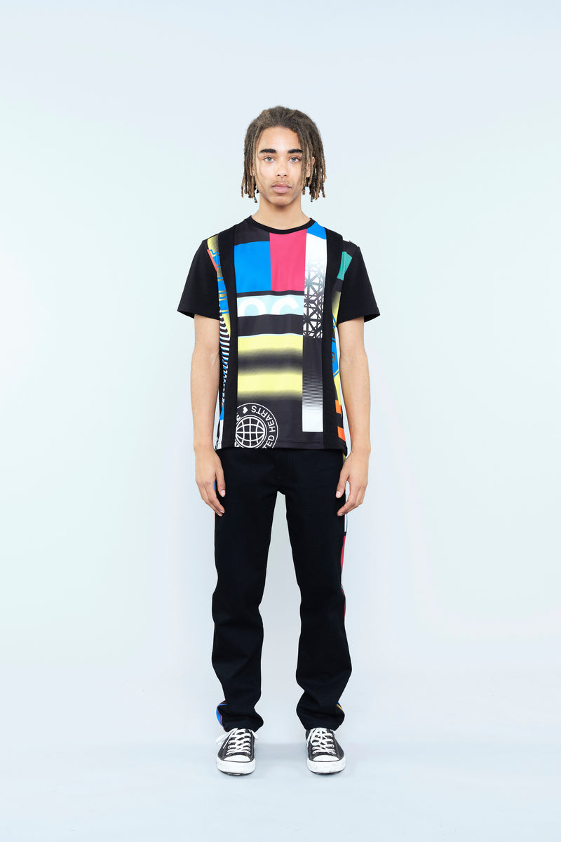 T-SHIRT WITH RE/KOCHÉ-INSPIRED PATCHWORK