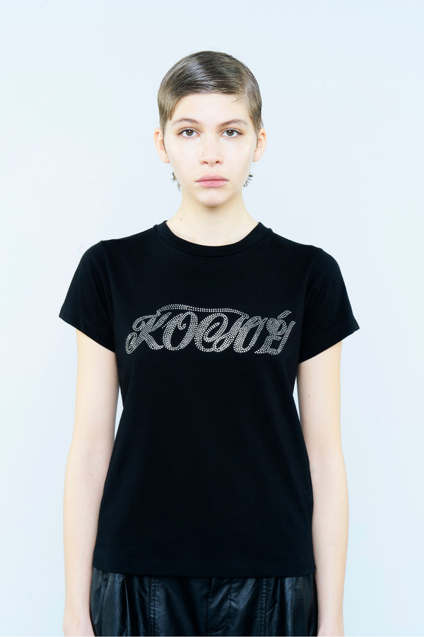 COTTON T-SHIRT WITH KOCHE CRISTALS LOGO