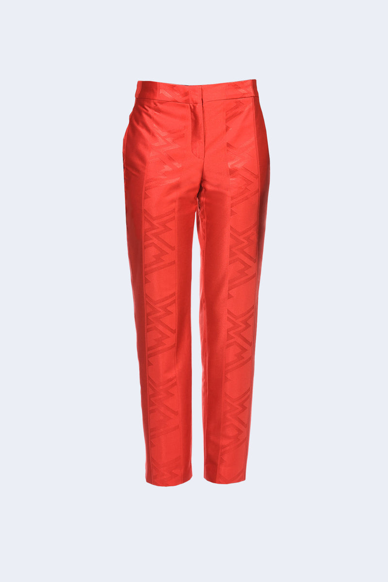 CLASSIC TROUSERS WITH JACQUARD PATTERN