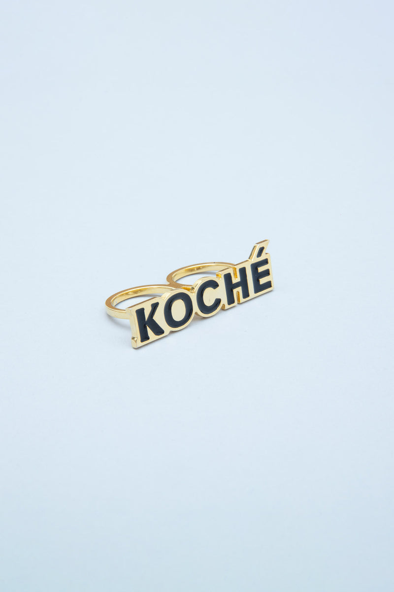 DOUBLE RING WITH KOCHÉ LOGO