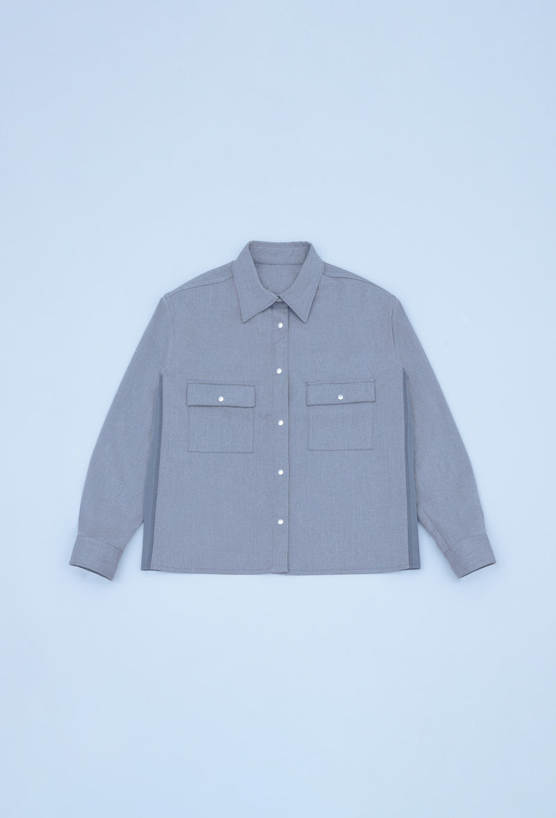 MILITARY DOUBLE-BREAST-POCKET FLANNEL SHIRT