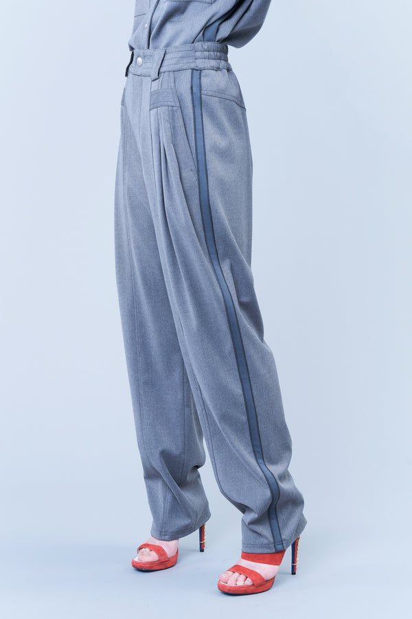 TECH FLANNEL HIGH-WAISTED TROUSERS