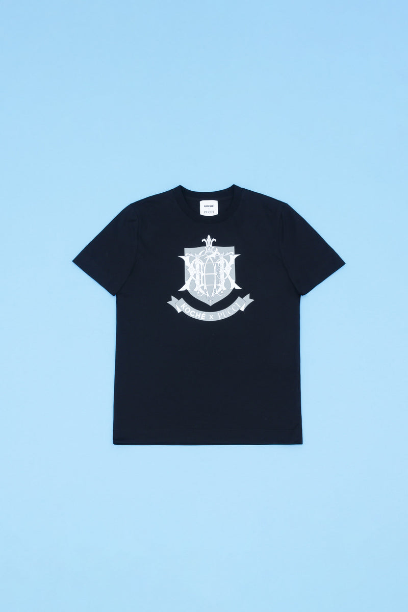 EPK MONOGRAM PRINT BLACK T-SHIRT