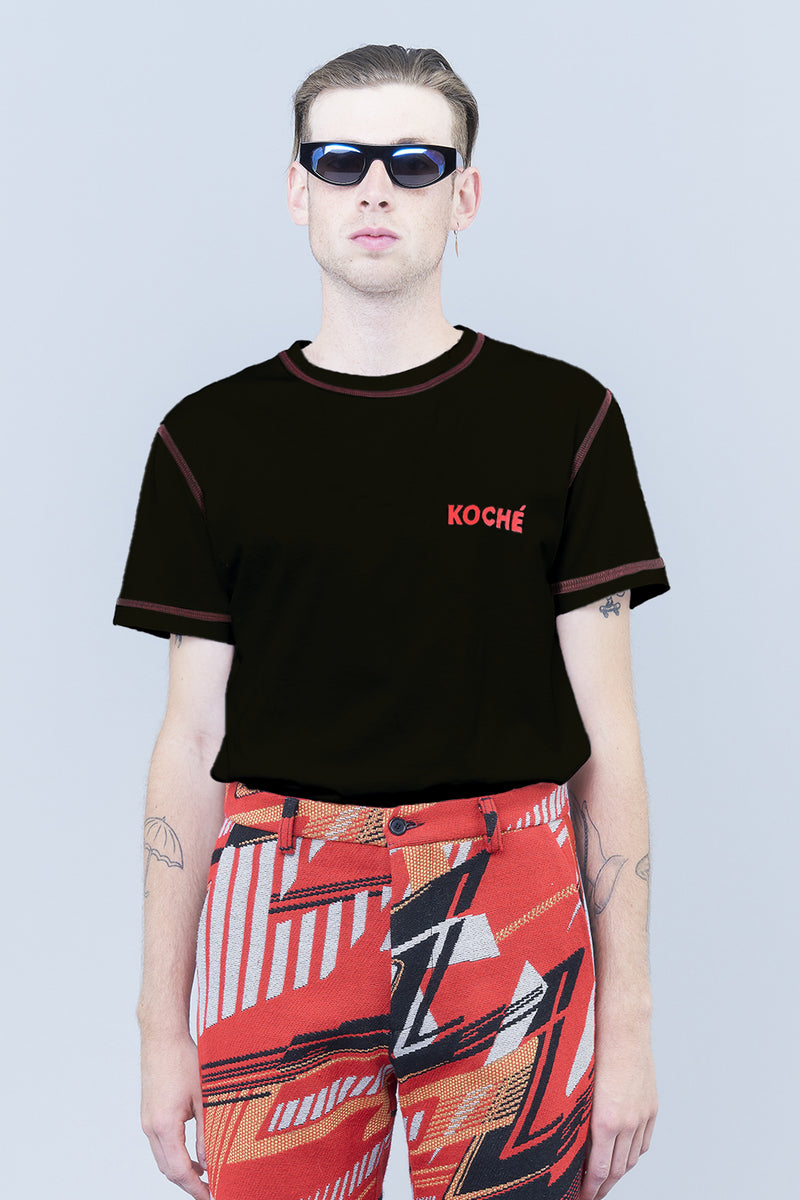 COVER-STITCH T-SHIRT WITH KOCHÉ LOGO