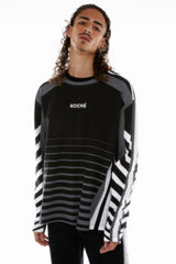 LONG SLEEVES BLACK JERSEY T-SHIRT