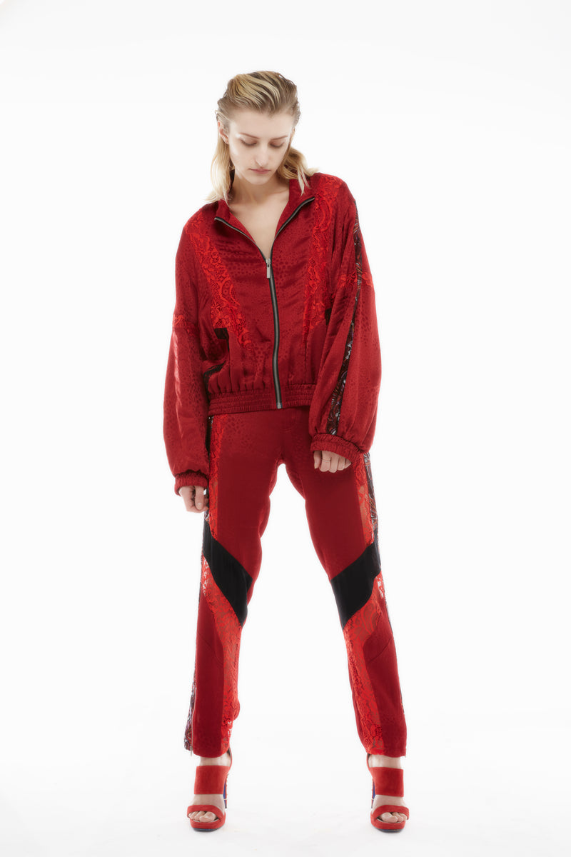 RED SATIN JACKET
