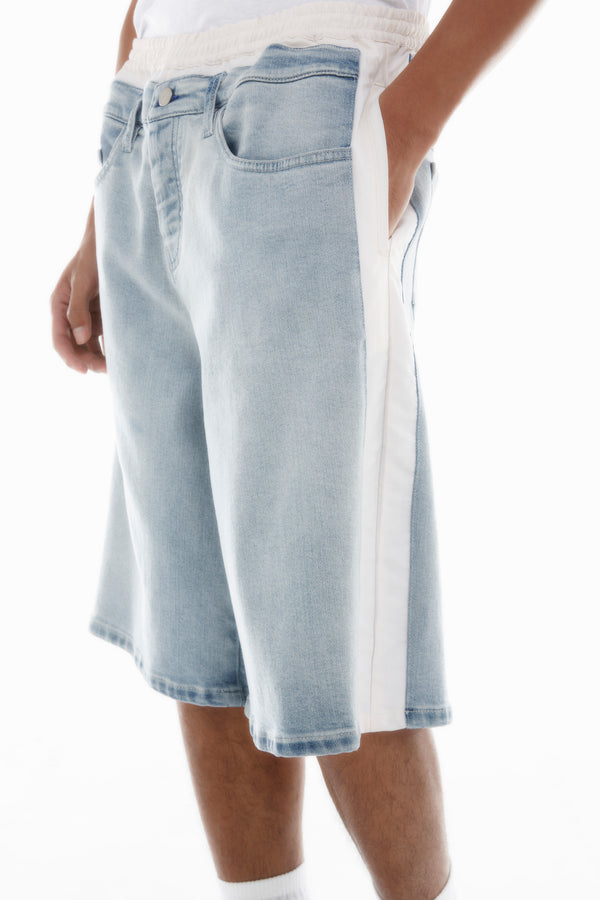 SIDE BAND DENIM SHORT