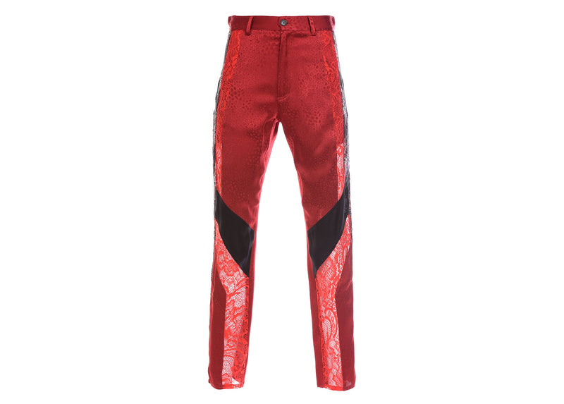 RED FITTED TROUSERS