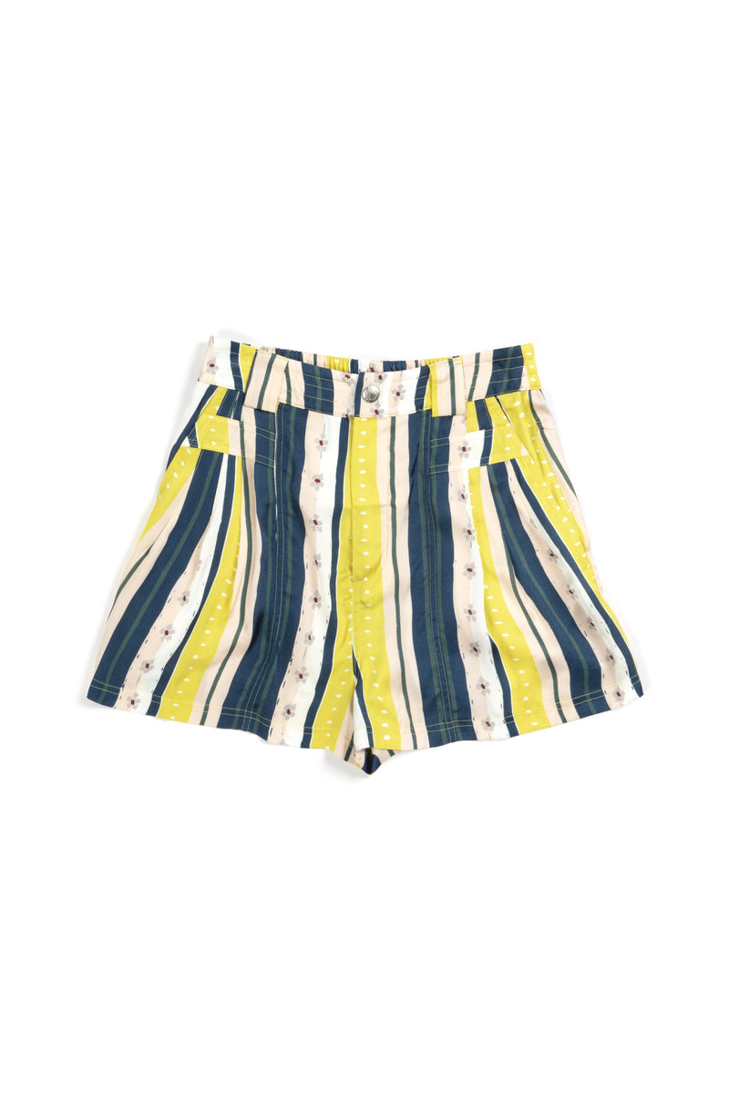 YELLOW STRIPES SHORTS