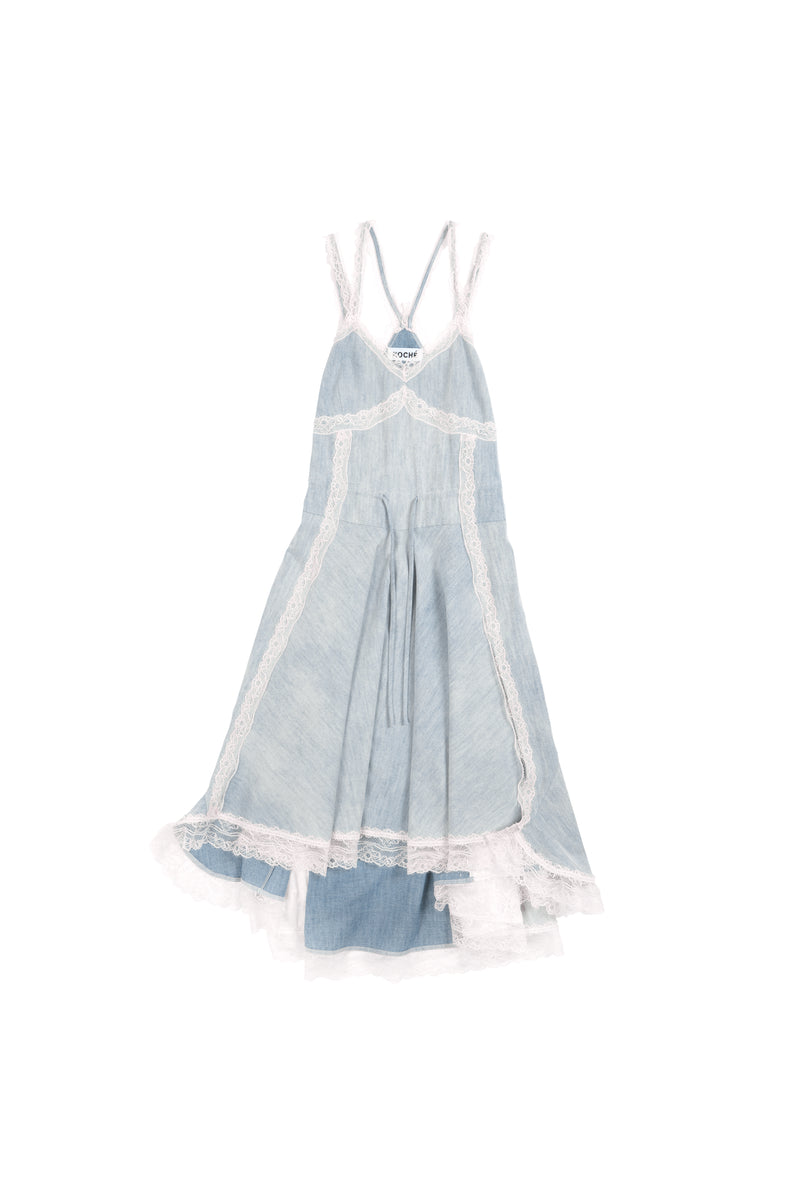 DENIM LINGERIE DRESS