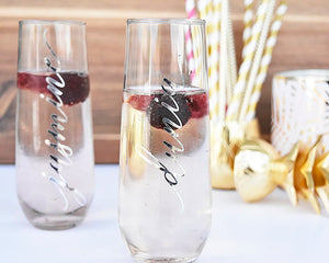 Personalized Bridal Party Flutes - Details Matter Studio