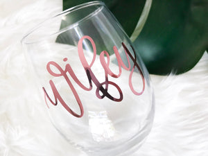 Wifey Wine Glass