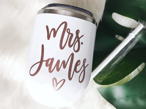 Personalized Mrs. Wine Tumbler - Details Matter Studio