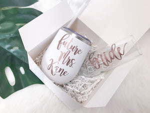 Personalized Future Mrs Gift Set