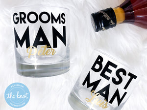 Personalized Groomsmen Whiskey Glass