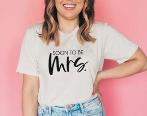 Soon to be Mrs Bachelorette Party Shirt for Bride