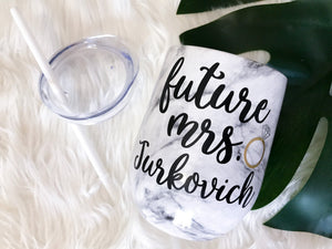 Personalized Future Mrs. Wine Tumbler