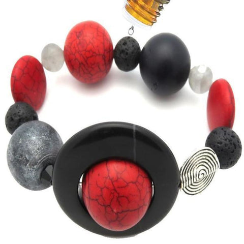 Best Natures all Natural Aromatherapy Lava Beads DIFFUSER BRACELET - Pure Natural