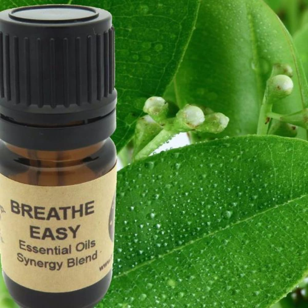 Breathe Easy Essential Oils Synergy Blend. - Wild Harvested Steam Distilled