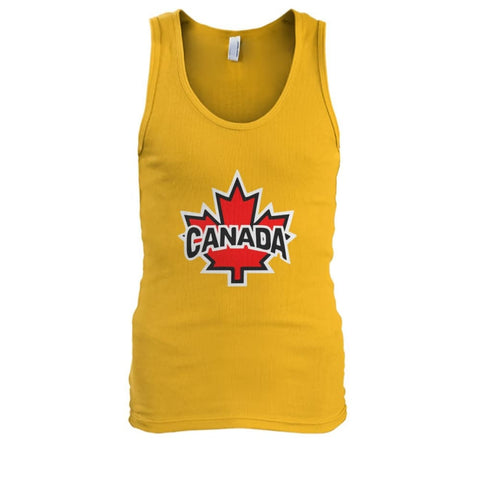 Image of Canada Tank - Gold / S / Mens Tank Top - Tank Tops