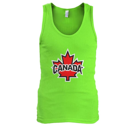Canada Tank - Lime / S / Mens Tank Top - Tank Tops