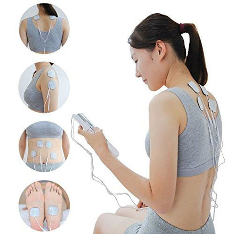 Easy@Home EHE009 TENS Handheld Electronic Pulse Massager Unit Health Canada FDA and OTC approved Pain Relief therapy Device - a portable