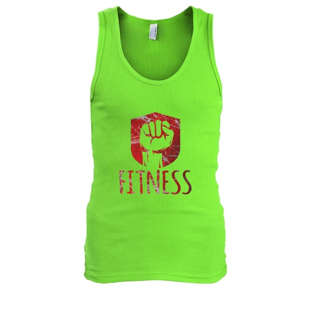 Fitness Tank - Lime / S / Mens Tank Top - Tank Tops