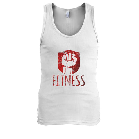Image of Fitness Tank - White / S / Mens Tank Top - Tank Tops