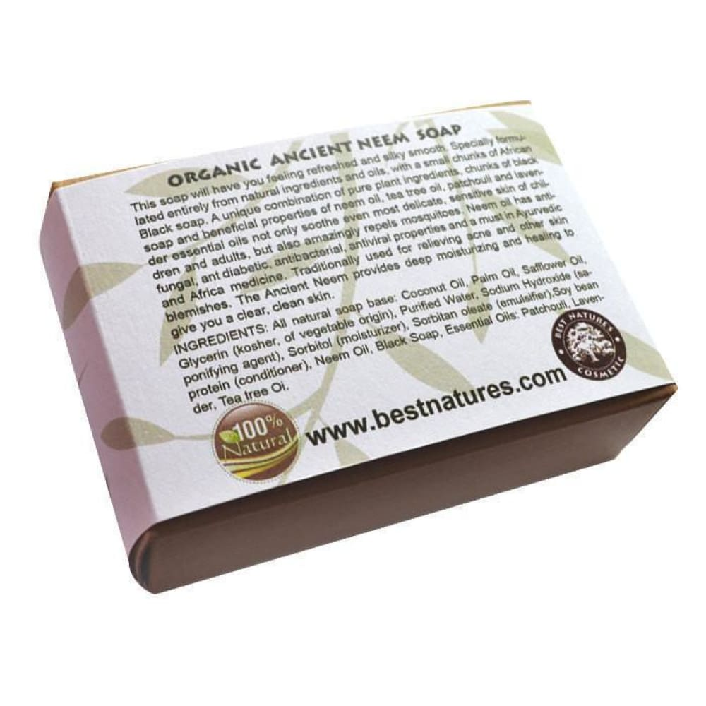 Organic Ancient Neem Soap. All Natural SLS Free 120g - Natural Organic
