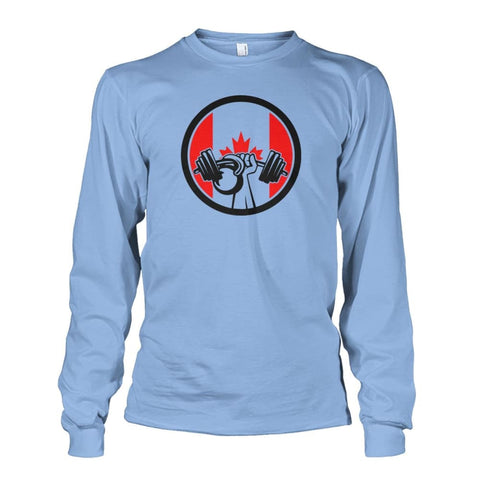 Image of Pumping Iron Long Sleeve - Light Blue / S / Unisex Long Sleeve - Long Sleeves