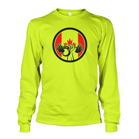 Pumping Iron Long Sleeve - Safety Green / S / Unisex Long Sleeve - Long Sleeves