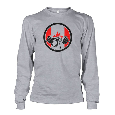 Image of Pumping Iron Long Sleeve - Sports Grey / S / Unisex Long Sleeve - Long Sleeves