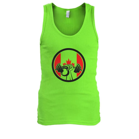 Image of Pumping Iron Tank - Lime / S / Mens Tank Top - Tank Tops