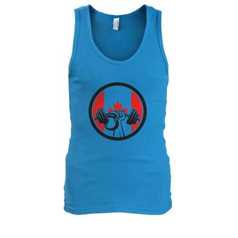 Image of Pumping Iron Tank - Sapphire / S / Mens Tank Top - Tank Tops