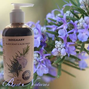 Rosemary Black Soap & Aloe Wash (Organic) - Organic Soap