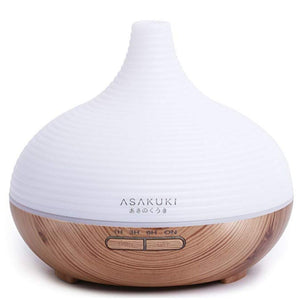 300mL Wood Grain Essential Oil Diffuser